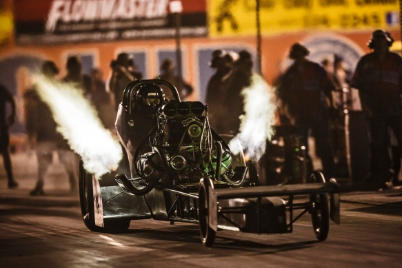 Saturday Night Nitro event at the Auto Club Raceway Famoso. (photo by Ted Soqui c/o thelastdragstrip.com)